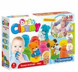 Baby Clemmy - Set de joaca cu carticica si animalute de companie, Clementoni