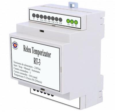 Releu temporizator pentru iluminat cu trei canale cod RT-3 foto