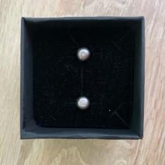 Cercei aur diamante