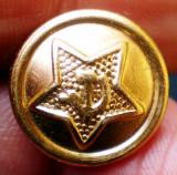 M.075 NASTURE METALIC MILITAR RUSIA URSS ARMATA STEA SECERA SI CIOCANUL 14mm