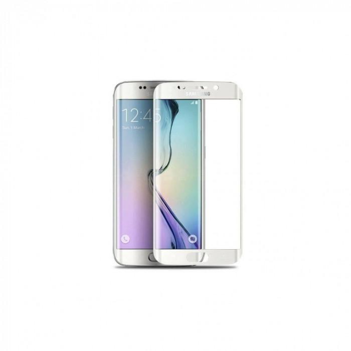 Folie Sticla Temperata Nano Slim Full Display Pentru Samsung Galaxy S6 Edge Plus Alb