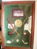 Caseta-Tablou- Suveniruri Miniaturale pt Clubul de Golf -Royal Golf Club 32x21cm
