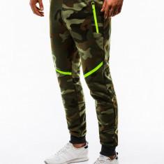 Pantaloni barbati, de trening, camuflaj, slim fit, sport, street, model nou - P742