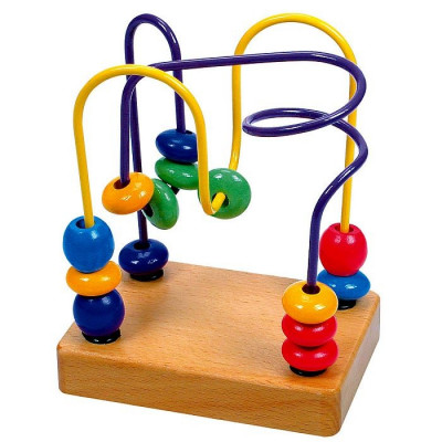 Jucarie dexteritate - circuit cu bile - Bino foto