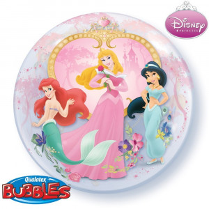 Balon Bubble 22/56cm Qualatex, cu Printese Disney, 29164