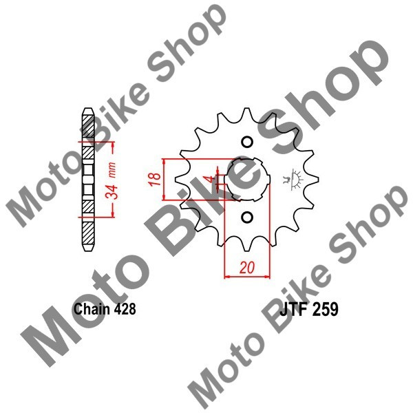 MBS Pinion fata 428 Z12, Cod Produs: JTF25912
