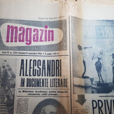 Magazin 11 septembrie 1965-alecsandri in documente literare,uzina din sinaia