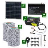 Pachet gard electric cu Panou solar 3,1J putere cu 2000m Fir 120Kg