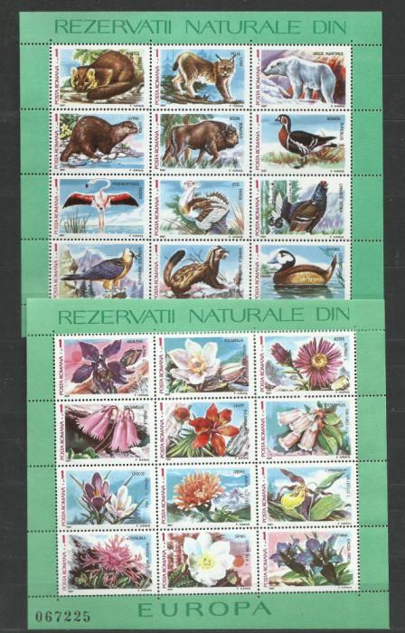 TSV$ - 1983 LP 1084 FLORA SI FAUNA DIN REZERVATII NATURALE EUROPA  MNH/** LUX