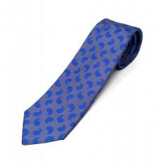 Cravata Matase Bleu Floral CR008-104