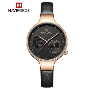 Ceas de dama NaviForce NF5001, calendar, elegant, piele, original, garantie