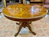 Masa de salon rotundă stil baroc italian extensibila