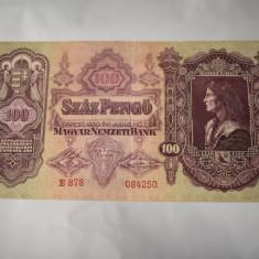 Bancnota Ungaria - 100 Pengo 1930 - Matei Corvin