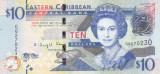 Bancnota Caraibe ( Eastern Caribbean ) 10 Dolari (2015) - P52b UNC