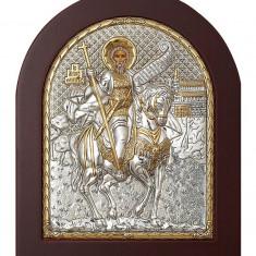 Cumpara ieftin Icoana Sfantul Mina Foita Argint 925 15.6x19 cm Cod Produs 1403