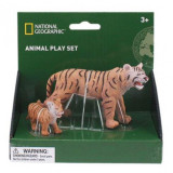 Set 2 figurine Tigrul si puiul National Geographic, 3 ani+