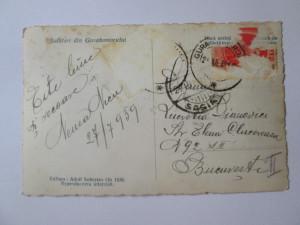 Carte postala foto 1938 circulata 1939:Salutari din Gurahomorului