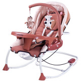 Scaun balansoar cu vibratii pentru bebelusi Caretero Rancho SBCR-M, Maro