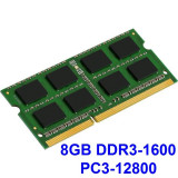 8GB DDR3-1600 PC3-12800 1600MHz , Memorie LAPTOP DDR3 Testata cu Memtest86+