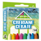 Creioane colorate cerate 90mm 16 bucati/set, ECADA