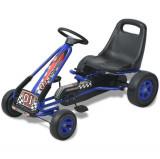 Mașină Go Kart cu scaun reglabil, albastru