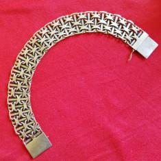 """Brățară """"C"""" împletit aur 14 kt / Cartier patent"""