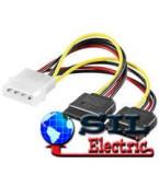 Cablu de alimentare 4p 5.25 la 2x15p S-ATA