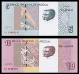 ANGOLA █ SET █ 5 + 10 Kwanzas █ 2012 █ P-151A-151B █ UNC █ necirculata