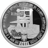 Moneda argint 450 de ani de la tipărirea Evangheliei în limba română