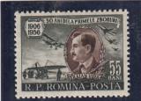 ROMANIA 1956  LP 411 - 50 ANI DE LA PRIMUL ZBOR AL LUI TRAIAN VUIA   MNH