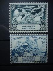 SOUTHERN RHODESIA 1949 SERIE UPU foto