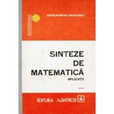 Sinteze de matematica. Aplicatii, vol. III
