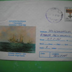 HOPCT PLIC 436 CORABIA MARITA 1843 ROMANIA  -EXPO FILAT CONSTANTA 1996