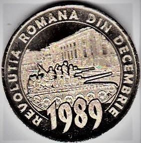 50 bani 2019 30 ani de la Revolutia romana din decembrie UNC din fisic foto