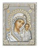 Icoana Argint Maica Domnului Kazan 20x26 cm Cod Produs 2399