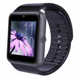 Ceas Smartwatch cu Telefon iUni GT08, Bluetooth, Camera 1.3 MP, Ecran LCD antizgarieturi, Black, Negru