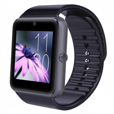 Ceas Smartwatch cu Telefon iUni GT08, Bluetooth, Camera 1.3 MP, Ecran LCD antizgarieturi, Black