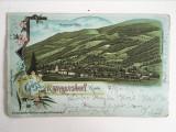 Carte postala veche vedere Austria Rangersdorf 1899, circulata
