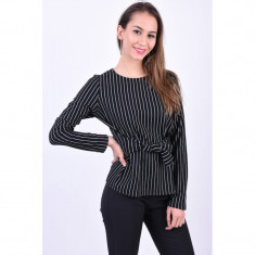 Bluza Pieces Oriak Tie Negru, L, M, S, XL, XS