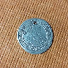 AUSTRIA  3  KREUZER  1699   LEOPOLDUS  AG