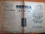 ziarul ordinea 23 august 1935-accident aviatic la baneasa,mussolini