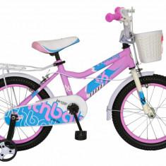 Bicicleta copii 14 FIVE Marill cadru otel culoare roz bleo roti ajutatoare varsta 3 5 ani