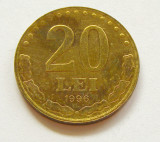 T492 ROMANIA 20 LEI 1996 aUNC APROAPE NECIRCULATA cu luciu si patina, Cupru-Nichel