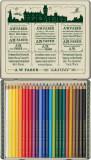 Creioane Colorate Faber-Castell Polychromos 111 Ani, 24 culori, cutie metal