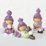 Figurina decorativa din polirasina Lavender II Multicolor, Modele Asortate, l6xA6xH10 cm