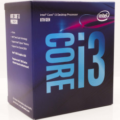 Procesor Intel® Core™ i3-8100 Coffee Lake, 3.60GHz, 6MB, Socket 1151 - Chipset seria 300, BOX