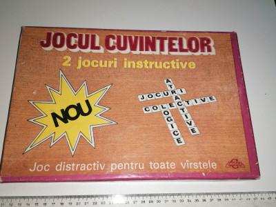 JOC VECHI ROMANESC - JOCUL CUVINTELOR - 2 JOCURI INSTRUCTIVE foto