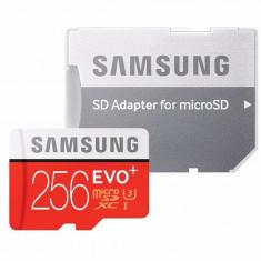 Card de memorie Samsung Micro-SDHC EVO Plus 256GB, Class 10, UHS-1 2017, MB-MC256GA/EU (Adaptor SD inclus)