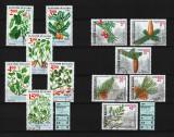 Timbre Bulgaria, 1995 - 96 | Lot floră, plante şi conifere | 2 serii complete, Flora, Stampilat
