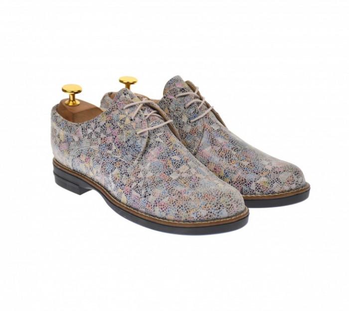 Oferta marimea 40 - Pantofi dama casual de toamna, din piele naturala - LP102BEJ2